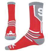 Prime Numbers Crew Sports Socks - Red #8