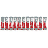 Prime Numbers Crew Sports Socks - Red #1