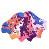 6 Pairs of Women's Tasty Peanut Butter and Jelly Ankle Socks - Multicolor