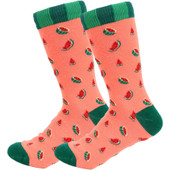 Women's Juicy and Ready to Eat Watermelon Slices Novelty Socks - Green