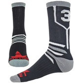 Prime Numbers Crew Sports Socks - (Single Sock) Black #5