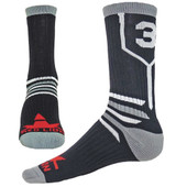 Prime Numbers Crew Sports Socks - (Single Sock) Black