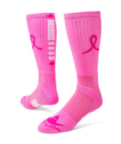 Ribbon Legend 2.0 Knee High Sports Socks - Pale Pink & Neon Pink