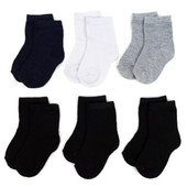 Infants' Solid Color Socks 6 Pair Pack