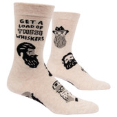 Men's Get A Load Of These Whiskers Crew Novelty Socks