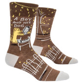 Men's A Boy And His Dog Crew Novelty Socks