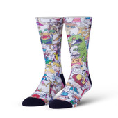 Men's 90's Squad Cartoons Crew Novelty Socks