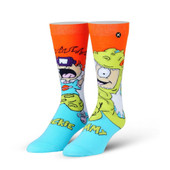 Men's The Rugrats Tommy & Chuckie Playzone Crew Novelty Socks