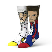 Men's Back To The Future Doc & Marty Crew Novelty Socks