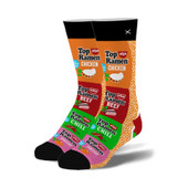 Men's Top Ramen Stack Crew Novelty Socks