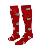 Volleyball Knee High Sports Socks - Red