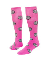 Volleyball Knee High Sports Socks - Pale Pink