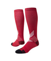 All Sport Knee High Performance Sports Socks - Red & White