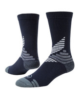 All Sport Crew Performance Sports Socks - Navy Blue White