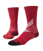 All Sport Crew Performance Sports Socks - Red & White