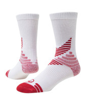 All Sport Crew Performance Sports Socks - White & Red