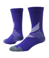 All Sport Crew Performance Sports Socks - Purple White