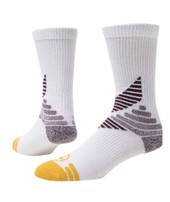 All Sport Crew Performance Sports Socks - White & Maroon