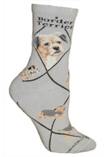 Border Terrier Crew Novelty Socks
