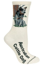Australian Cattle Dog Label Crew Novelty Socks