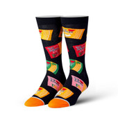 Men's Top Ramen Noodles Crew Novelty Socks