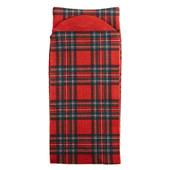 Jacob Alexander Kids' Red Christmas Plaid Dress Socks