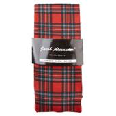 Jacob Alexander Men's Red Christmas Plaid Dress Socks