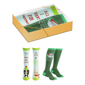 2 Pairs of Women's Christmas Funny Sayings Socks Gift Box Set