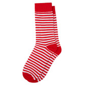 Kids' Christmas Candy Cane Red White Stripe Socks
