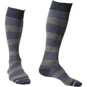 Feed Stripe Rugby Designed Knee-High Compression Socks - Dark Grey