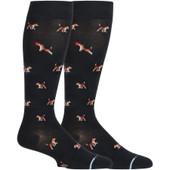 Dog Designed Knee-High Compression Socks - Black