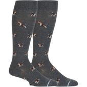Dog Designed Knee-High Compression Socks - Grey Heather
