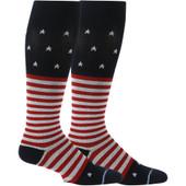 American Flag Designed Knee-High Compression Socks - Navy Blue