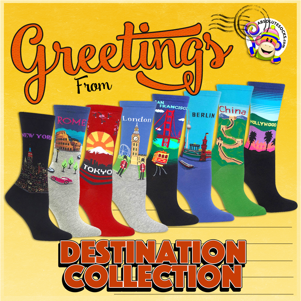 9748ac820e5 Shop fun crew socks and knee socks from your favorite brands at Absolute  Socks. Show your individual style and fashion with socks.