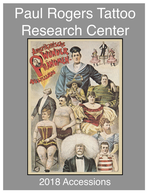 2018 Paul Rogers Tattoo Research Center Accession Book