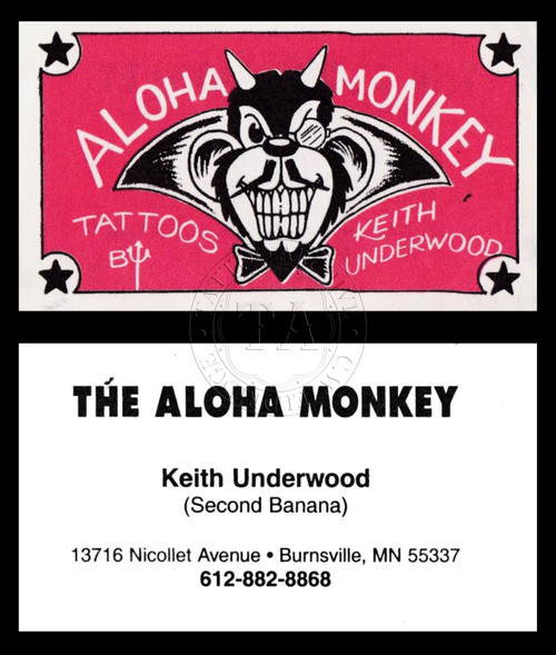 Original Keith Underwood Business Card