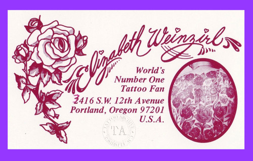 Original Elizabeth Weinzirl Business Card