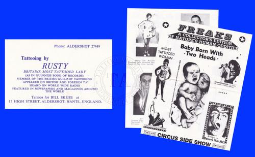 Original Rusty Fields Business Card