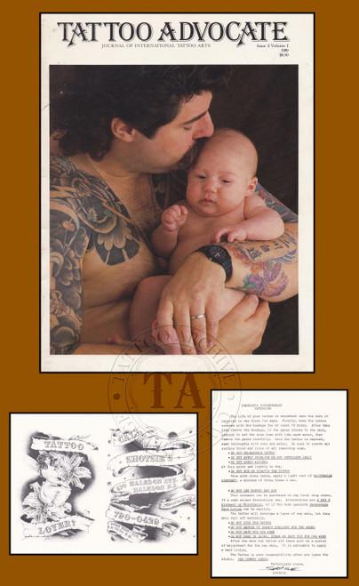 Original Copy of  Tattoo Advocate and  Shotsie Gorman Business Card
