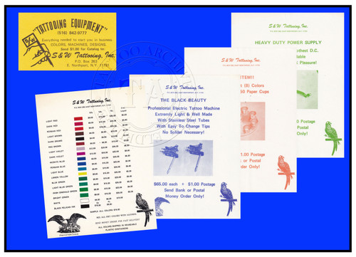 Original S&W Tattooing Inc. Business Card & Supply Flyers