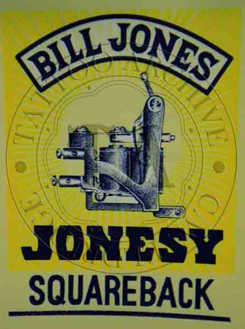 Bill Jones Machine Poster (Squareback)