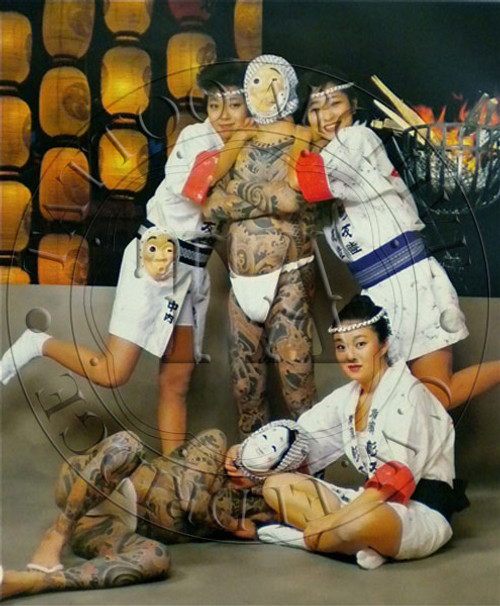 Tattooed Japanese Men Poster