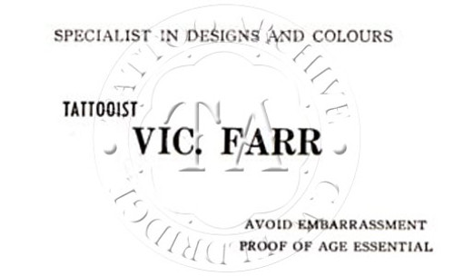 Vic Farr Business Card