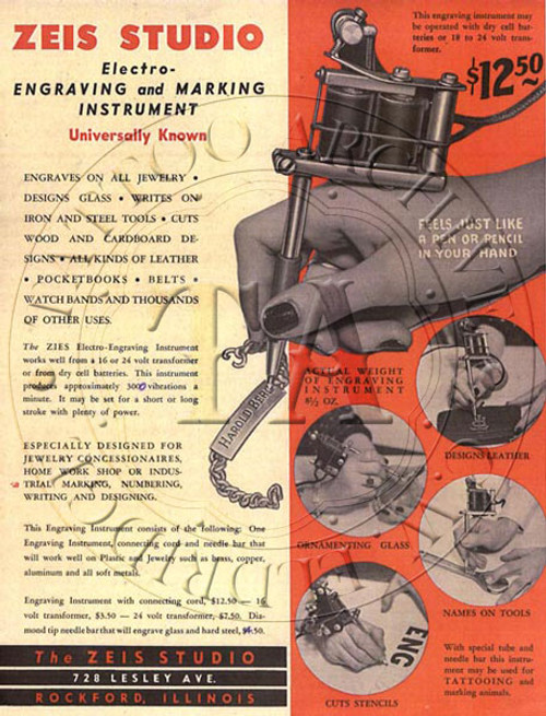 Milton Zeis Engraver Flyer