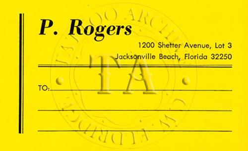Paul Rogers Mailing Label