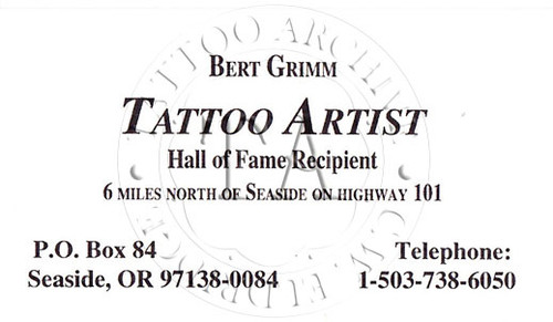 Bert Grimm Business Card