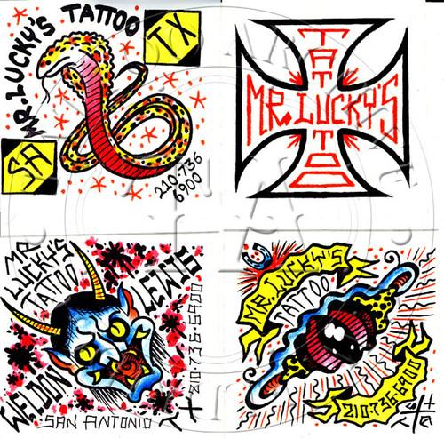 Weldon Lewis Sticker Set