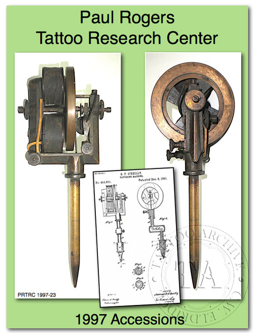 1997Paul Rogers Tattoo Research Center Accession Book