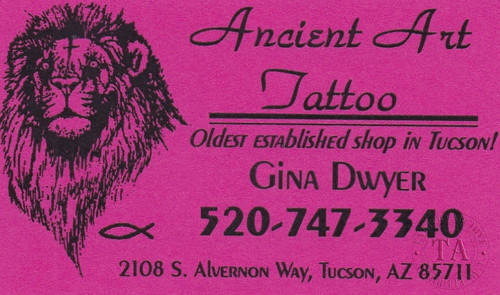 Original Gina Dwyer Business Card