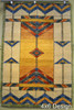 Stained Glass Gold Rug in 4x6